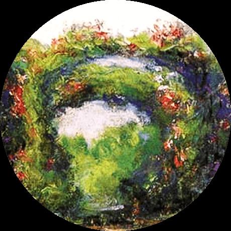 モネの絵:バラのアーチ