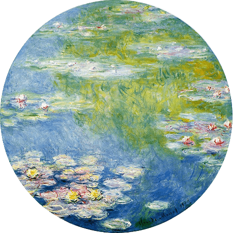 a painting of the water garden by Monet