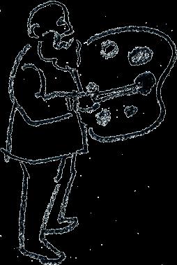 イラスト:パレットを持つモネ