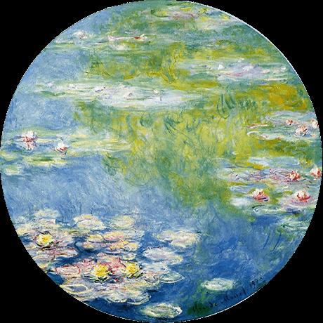 """モネの絵画:""""Waterlilies"""""""