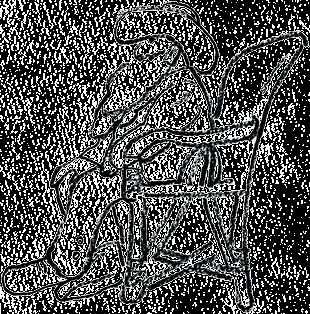イラスト:帽子をかぶって椅子に座るモネ