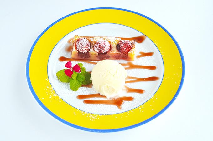 苺のクラフティー モネレシピ
